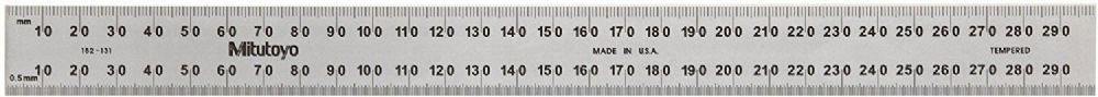 Mitutoyo 182-131 300mm Steel Rule Rigid